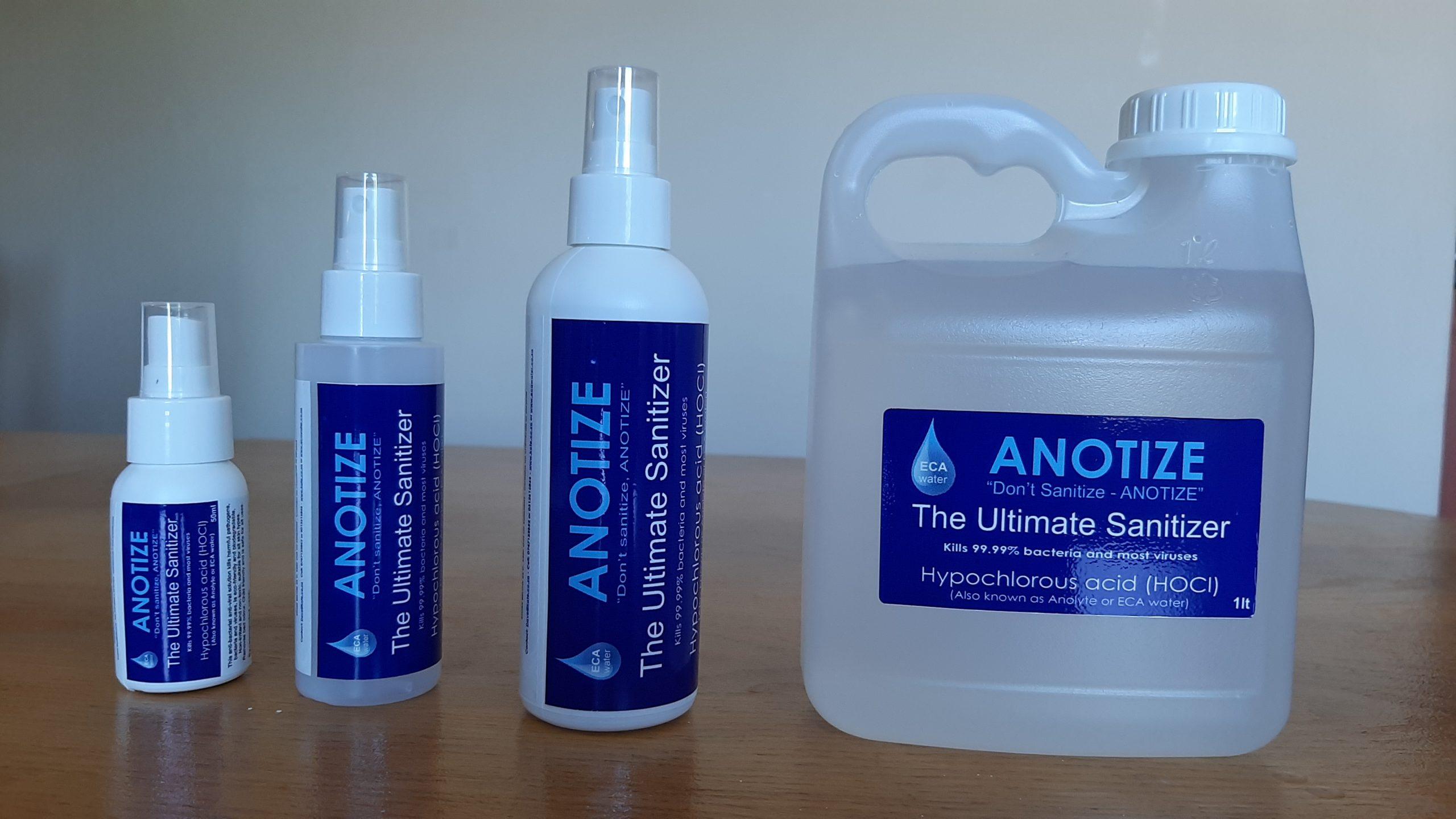 50ml, 100ml, 200ml Spray bottle and 1lt jug of sanitizer