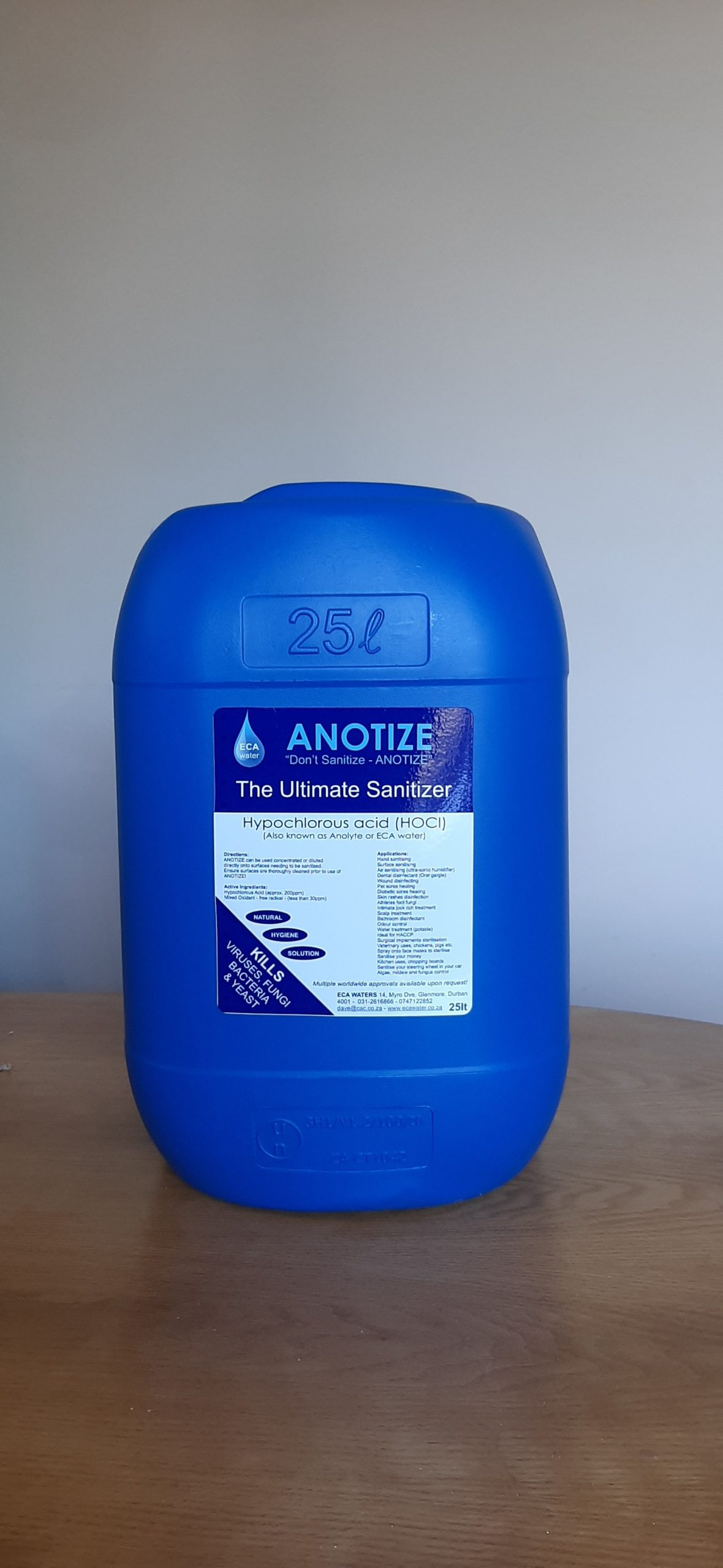 25Lt Sanitizer jerry can