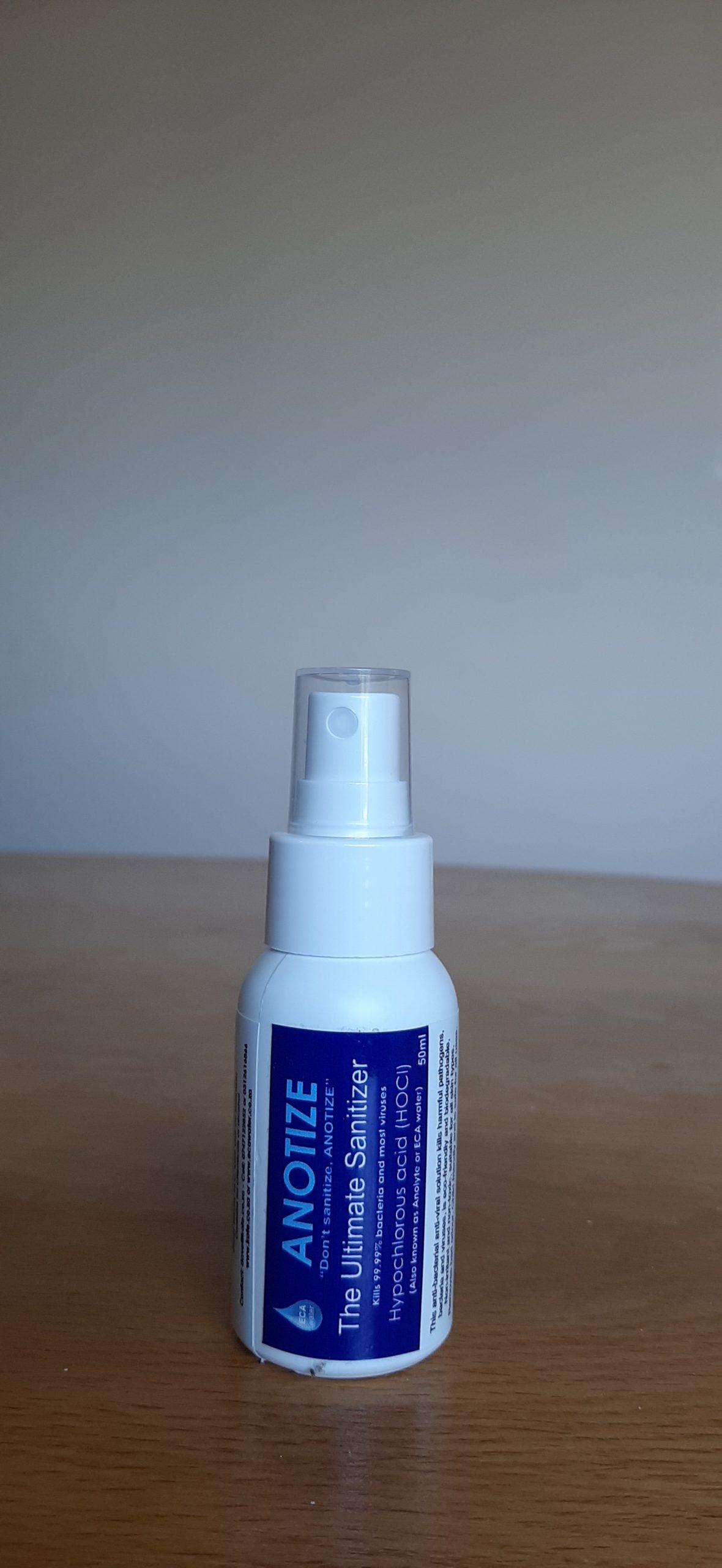 50ml bottle of sanitiser
