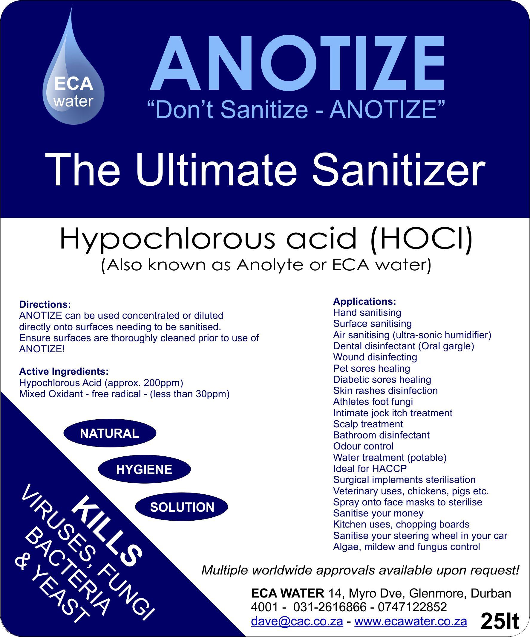 25Lt Sanitiser label